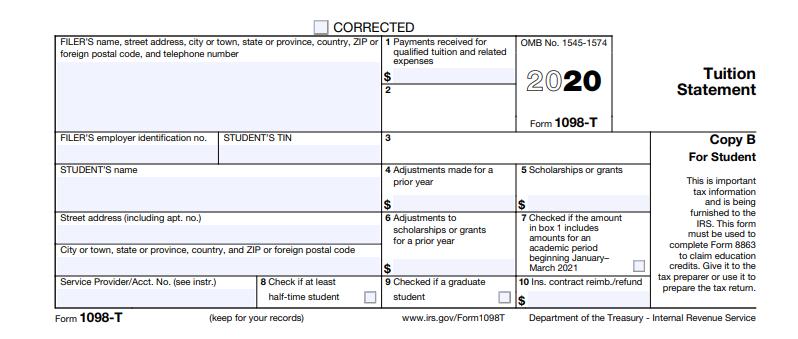 Sample 1098-T Form