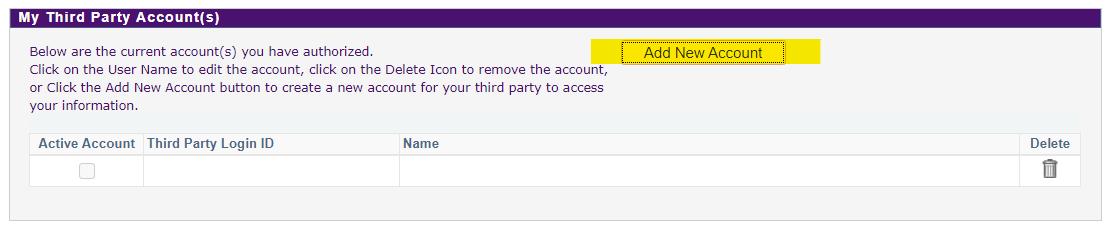 Add New Account