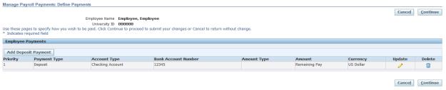 Delete Direct Deposit
