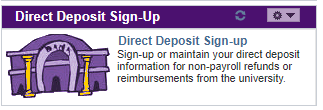 Direct deposit sign-up